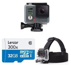 GoPro HERO Action Camera Starter Bundle only $139.  #fathersdaygifts #fathersday Newest Gopro, Gopro Video, Video Camera, Camera Shop, Flash Memory Card, Underwater Photography, Photography Photos, Shop Usa, Sports Camera