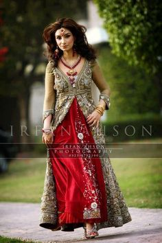 Pakistani bride, love the outfit