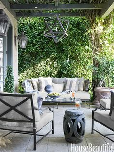 Lounge set, fabrics