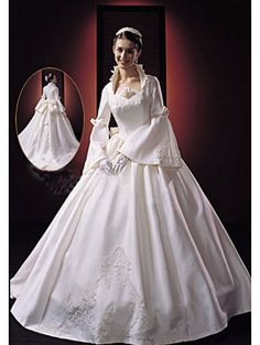 Modern Victorian Wedding Dress and French Lace Shrug www ...