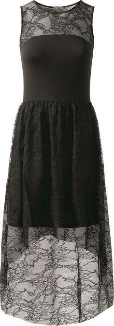 Vestito nero pizzo intimissimi dress