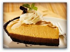 Dying for Chocolate: Double Layer Chocolate Pumpkin Mousse Pie: Canadian Thanksgiving