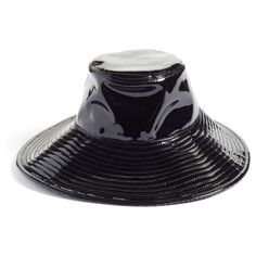 Women s Eric Javits Driptidoo Patent Bucket Rain Hat ( 295) ❤ liked on  Polyvore featuring d5160848e761