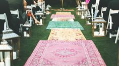 Wedding ceremony decoration idea Boho chic vs gypset decoration