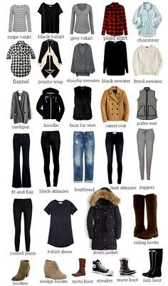 30 pieces for your Winter Wardrobe Do you have a basic winter wardrobe? We created a stylish and budget friendly 30 piece winter wardrobe you will love. Each piece will mix, match, and layer beautifully to create endless outfit possibilities.