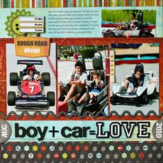 scrapbook layout images drag car racing - Google Search