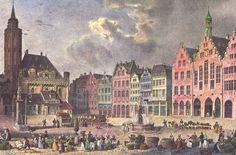 Isidore Laurent Deroy, : Frankfurt am Main, Römerberg, rond 1840