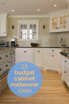 25 budget cabinet makeover ideas