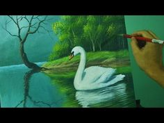 Acrylic Landscape Painting Lesson - The Swan in the Lake by JM Lisondra - YouTube