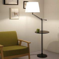 Lampadaire à pied rond avec liseuse LED 17,5W 1500lm Lampe