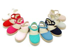 Tienda online de calzado infantil Okaaspain. Alpargata de lona en algodón piqué de colores. Calidad al mejor precio hecho en España.