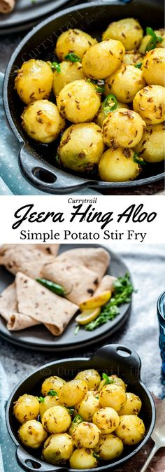Jeera Hing Aloo Boiled potatoes, mixed with some simple spices – jeera, green chilies, hing, and amchur powder tastes simply delicious. Serve it as appetizer or as side dish. Made withno onion, no garlic, this dish tastes out of the world and makes a delicious finger food during any party.