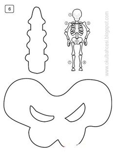 İSKELET ETKİNLİĞİ << Free Printable Art, Free Printables, Body Parts For Kids, Science Lessons, Halloween 2020, School Projects, Human Body, Stencils, Diy And Crafts