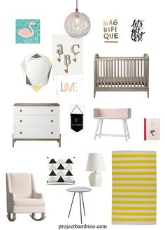 modern soft girl nursery - I'm a sucker for flamingos!