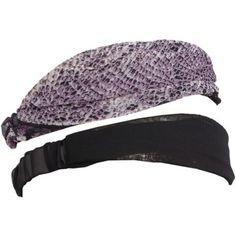 Magid Women's Two Pack Headwrap, Black