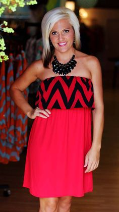 Black/Red Gameday Dress.  Perfect for UGA fans!  $39.99.  Available at 105 West Boutique in Abbeville, SC