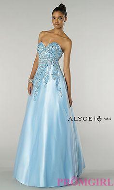 Strapless Sweetheart Floor Length Alyce Dress at PromGirl.com