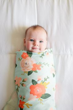 This soft, stretchy swaddle will easily become one of your must-have, new baby items. Made of a lightweight yet sturdy, stretchy organic
