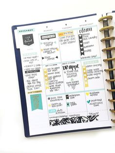 and fully functional in the BIG Happy Planner of mambi design Team member Marisa Yciano me my BIG ideas Planner Layout, Planner Pages, Life Planner, Printable Planner, Planner Stickers, Planner Ideas, Printables, Planner Writing, 2015 Planner