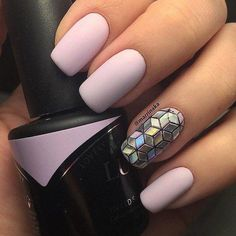 Love that accent nail!!! - coffin #nails #nailscoffin #coffinnails