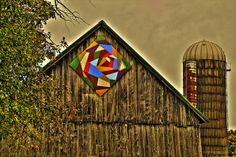 Crazy Barn Quilt in Door County, WI  by Images by MK, via Flickr