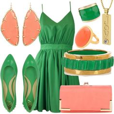Coral and Leaf Joy, created by essentialglimmer on Polyvore