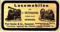 Original-Werbung/Anzeige 1903 - LOCOMOBILEN PAUL SANDER / HANNOVER - ca. 90 x  45 mm