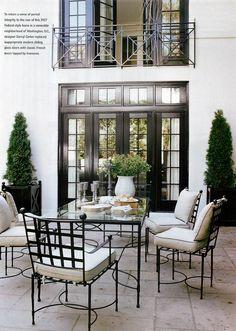 Darryl Carter patio and black windows