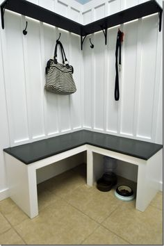Build a bench! Thinking of this for the book nook corner SHANTEL!