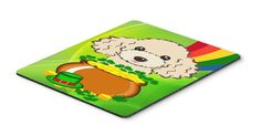Buff Poodle St. Patrick's Day Mouse Pad, Hot Pad or Trivet BB2002MP