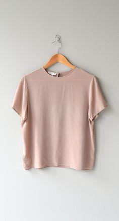 Putty Silk tshirt blouse silk blouse silk blouse by DearGolden