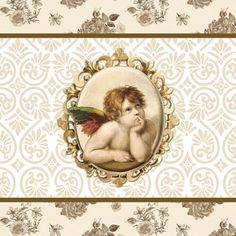 napkins / motives,  Christmas - angels,  Christmas,  lunchnapkins,  angels,  ornaments