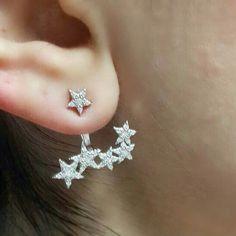 Stars earring sterling silver by robertoBOTTEGA