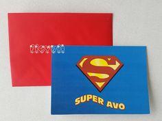 flavoli Papelaria Personalizada: Cartão Super Avô Personalized Stationery, Father's Day, Fiestas, Craft