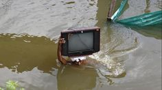 Television rescued from flood