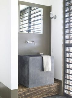 concrete sink | caribbean beach residence | by piet boon  - for more inspiration visit http://pinterest.com/franpestel/boards/