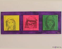 Portraits, Paintings, Canvas, Creative, Girls, Shop, Etsy, Tela, Toddler Girls