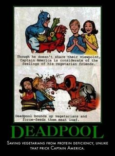 deadpool vs vegitarians