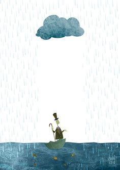 Mark Bird Illustration - Rain