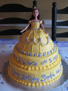 Barbie cake-my mom used to make me these I can't wait to do them for Hailey