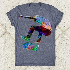 I Love Skateboarding Skateboard Shirts, Skateboard Pictures, Tee Shirts, Tees, Skateboarding, Gifts For Family, Shirts For Girls, Rainbow, Profile