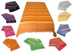 Tagesdecke XXL Indien Nepal Bett Sofa Überwurf Morocco Picknick Decke Baumwolle