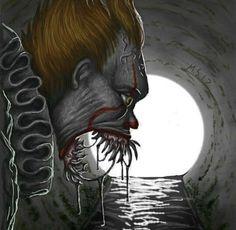 The Hunger Grows. Best Horror Movies, Horror Films, Scary Movies, Horror Art, Clown Horror, Creepy Clown, Creepy Halloween, Giger Art, Stephen King