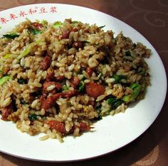 How to Make Simple Beef Fried Rice - Food, Fun, and Happiness ( I use bison)