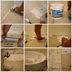 Apartment DIY progress: tiling the bathroom floor (before