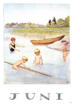 :: Sweet Illustrated Storytime :: Illustration by Elsa Beskow Elsa Beskow, Vintage Pictures, Vintage Images, Months In A Year, 12 Months, Children's Book Illustration, Vintage Cards, Childrens Books, Illustrators