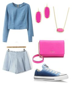 """Untitled #18"" by hannahehuff on Polyvore featuring Converse, Kate Spade and Kendra Scott"