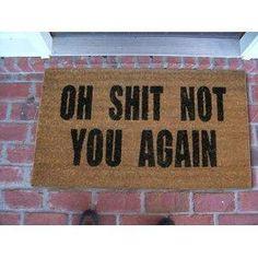 I want this!!!!!  Doormat