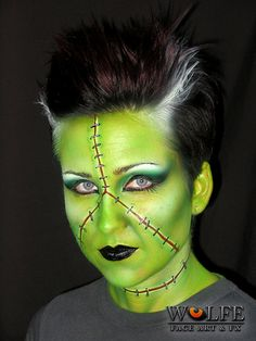 Wolfe Face Art & FX creates art using our unique hydrocolor make-up by Wolfe Face Art & FX, via Flickr