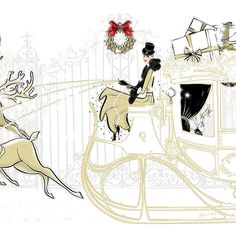 Christmas Sleigh illustration Tiffany La Belle Art & Illustration, view the whole scene www.tiffanylabelle.com, @tiffanylabelle_official ...